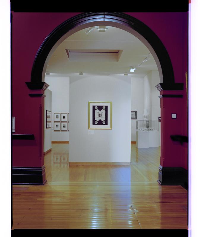 Installation view of the Marcus Bunyan's exhibition 'D O R' at Bendigo Art Gallery, 2001